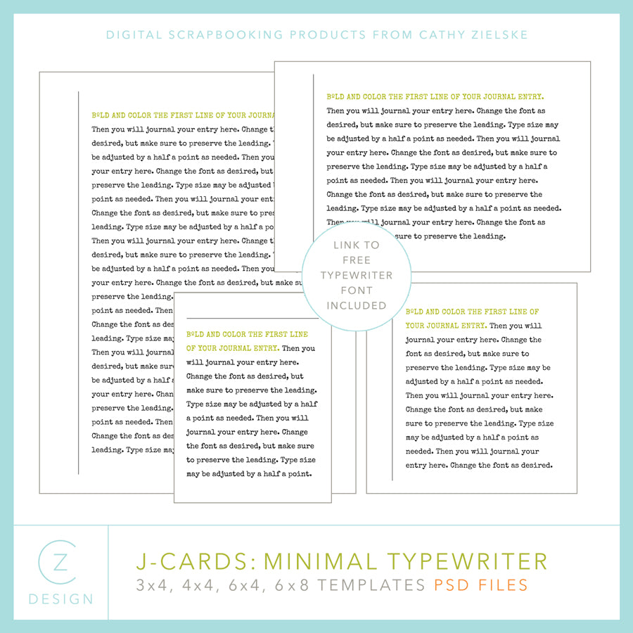 J-Cards: Minimal Typewriter