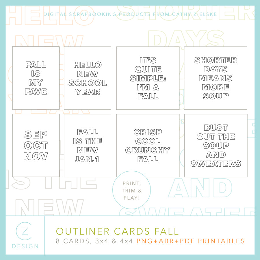 Outliner Cards Fall