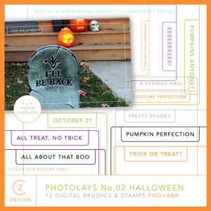 Photolays 02 Halloween Overlays