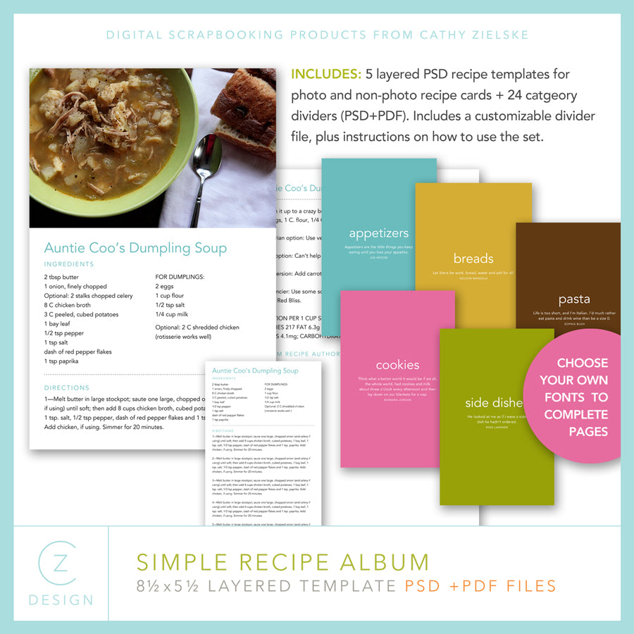 Simple Recipe Album Set