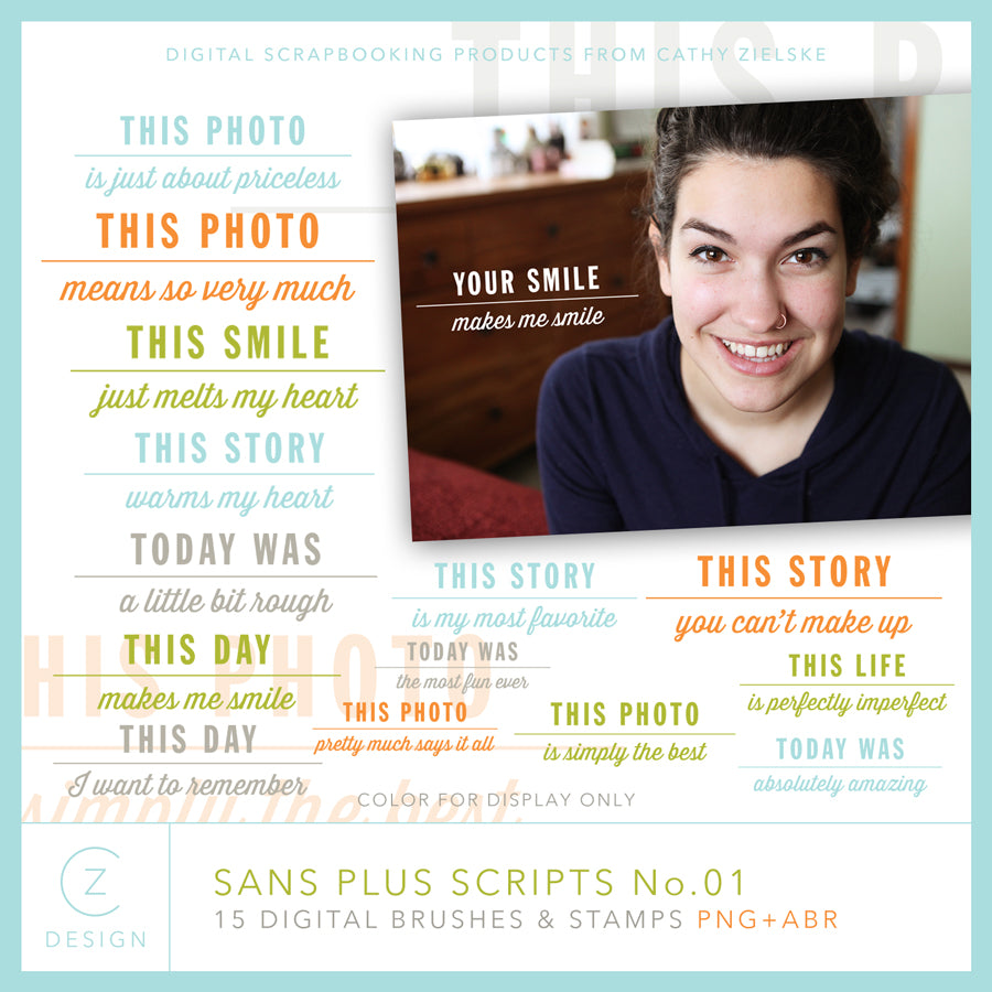 Sans Plus Scrips 01 Digital Stamps