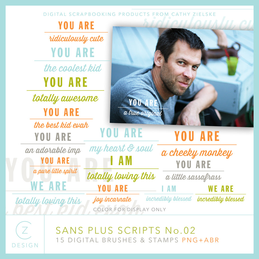 Sans Plus Scrips 02 Digital Stamps