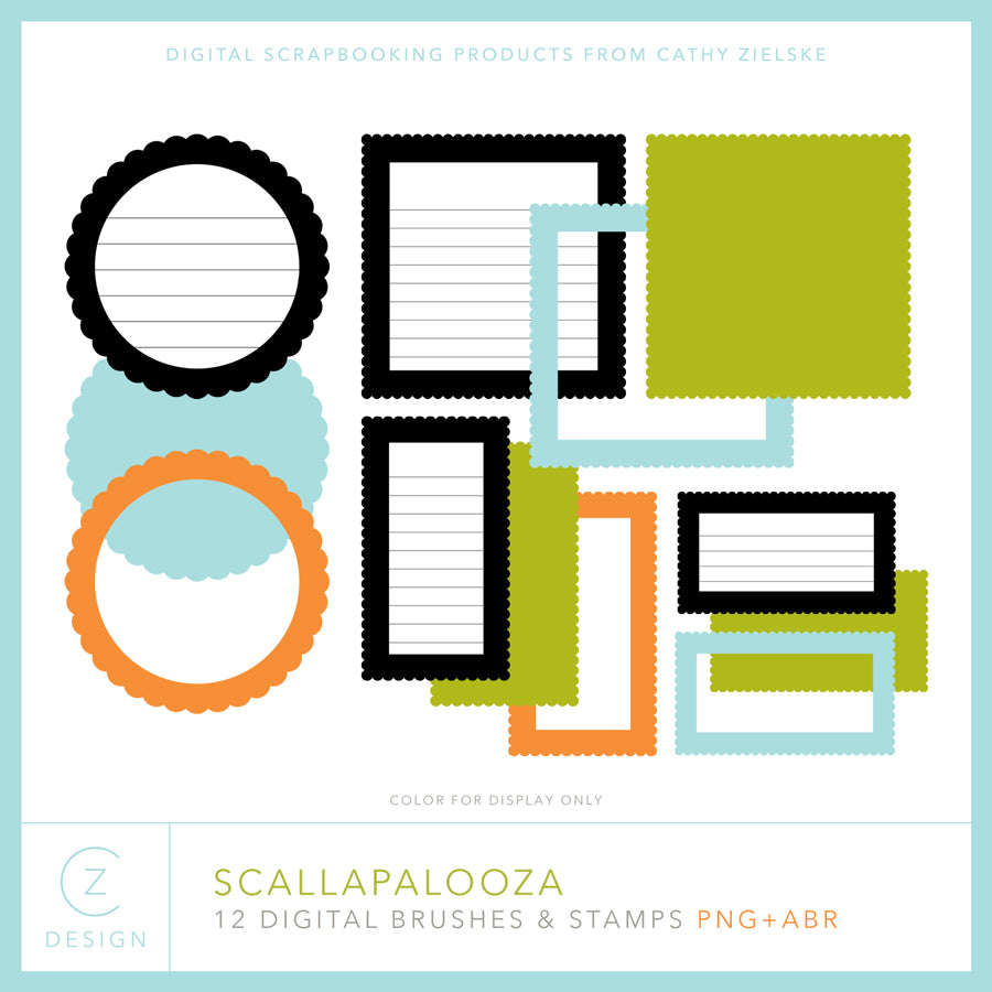 Scallapalooza Frames & Journal Spots Digital Stamps