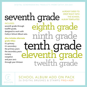 School Album Add On Pack Digital Stamps