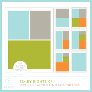 Six by Eights 01 Album Template Set