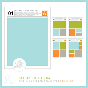 Six by Eights 04 Album Template Set