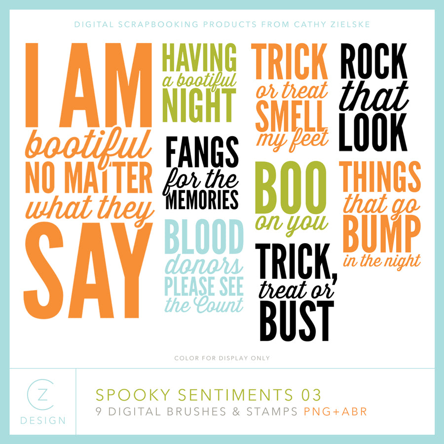 Spooky Sentiments 03 Digital Stamps