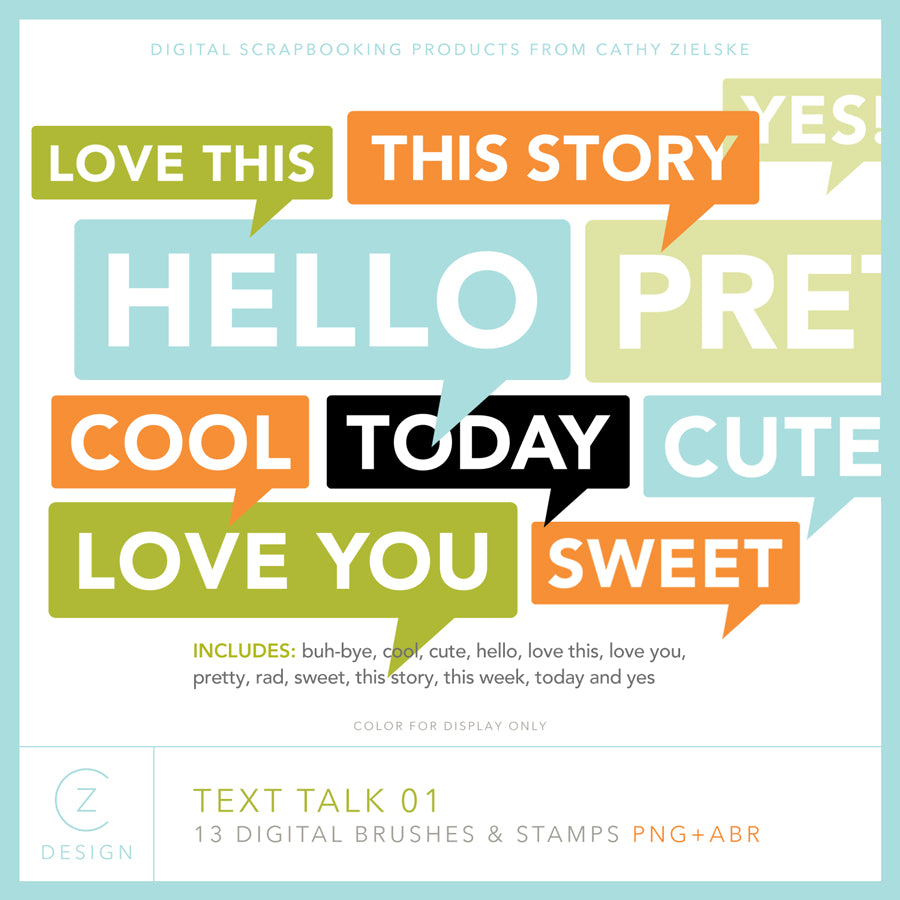 Text Talk 01 Digital Stamps