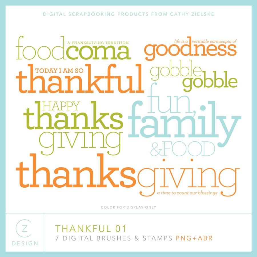 Thankful 01 Digital Stamps