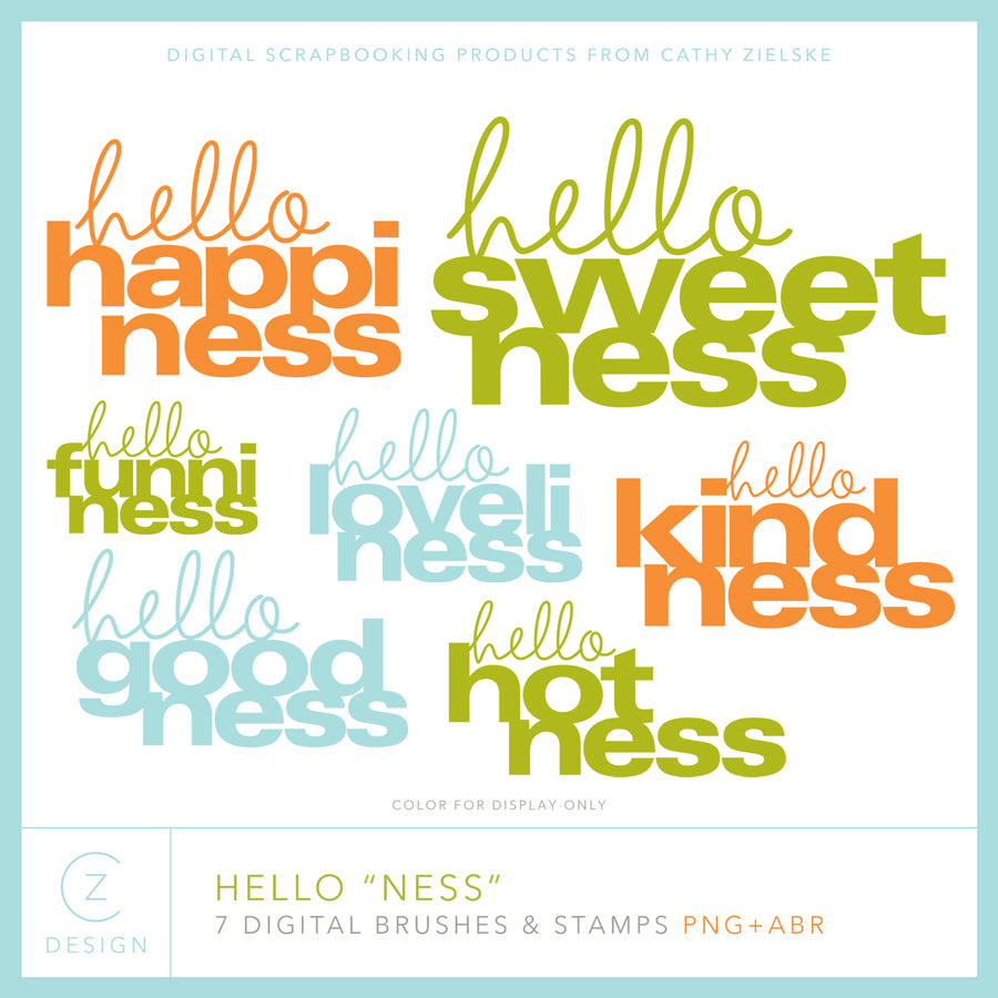 "Hello ""Ness"" Digital Stamps"