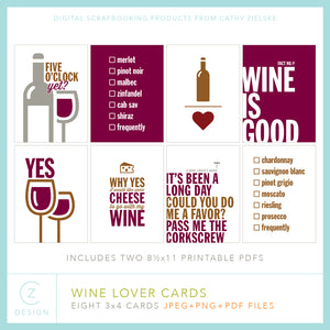 Wine Lover Cards