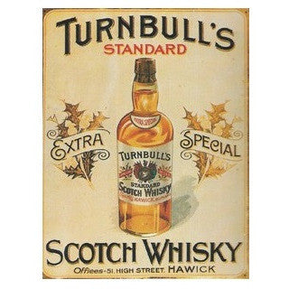 TURNBULL'S SCOTCH WHISKY WALL SIGN