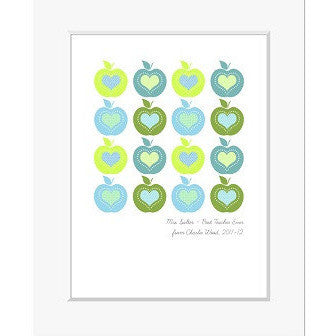 Apples for Teacher Personalised Print
