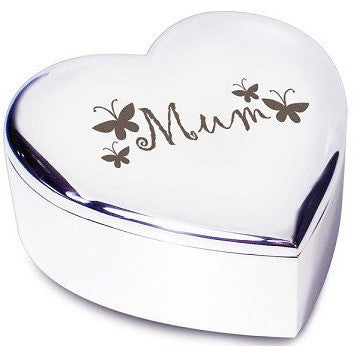 Mum Butterflies Heart Trinket