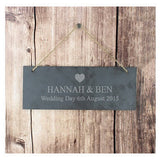 Heart Motif Slate Door Sign