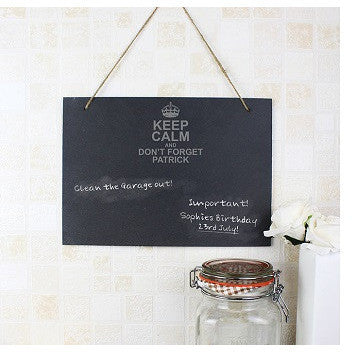 Keep Calm Hanging Slate Sign