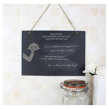 Waiter Hanging Slate Sign
