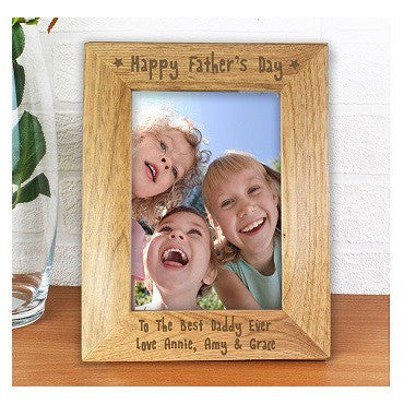 Happy Fathers Day Wooden Frame