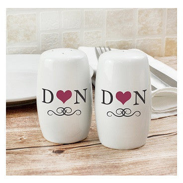 Initials Salt and Pepper Set