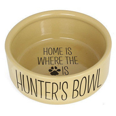 Home Is Where Large Brown Dog Bowl