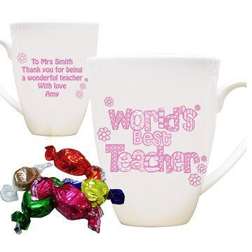 Pink World's Best Teacher Mug