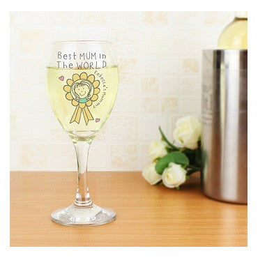 Purple Ronnie Rosette Wine Glass For Her