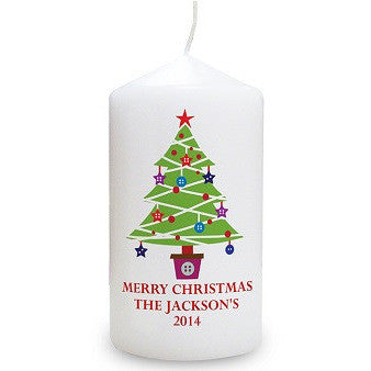 Merry Christmas Tree Candle