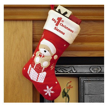 My 1st Christmas Teddy Stocking