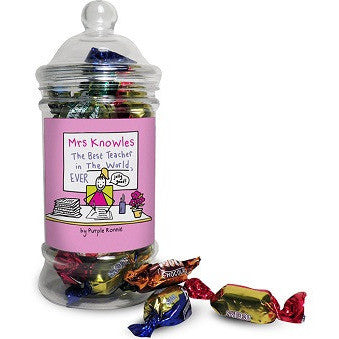 Purple Ronnie Female Teacher Toffee Jar