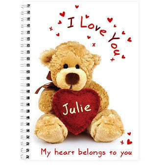 Teddy Heart A5 Notebook