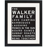 Typography Framed Print