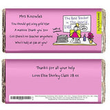 Purple Ronnie Female Teacher Chocolate Bar