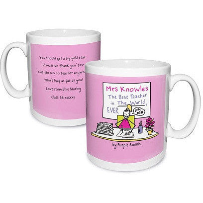 Purple Ronnie Female Teacher Mug