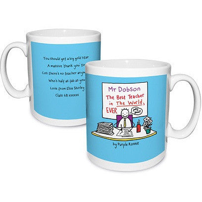 Purple Ronnie Male Teacher Mug