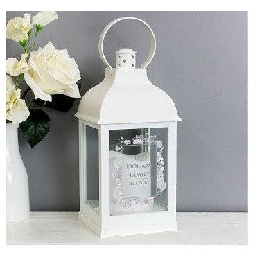 Soft Watercolour White Lantern