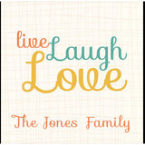 Personalised Live, Laugh & Love Glass Coasters
