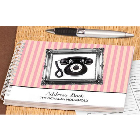 Personalised Vintage Design Address Book