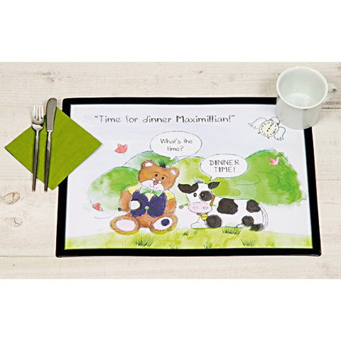 Time for Dinner Teddy - Personalised Placemat