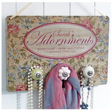 Personalised Vintage Style Accessories Hanger
