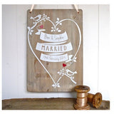 Personalised Wooden Love Bird Print