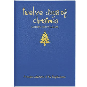 Personalised 12 Days of Christmas Embossed Classic Hardback Book