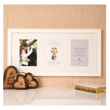 Premium Illustrated 1st Communion Wall Frame: Eucharist Design