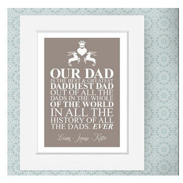 Father's Day personalised prints