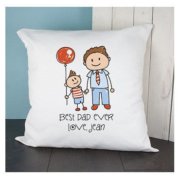 I Love My Dad Personalised Kid's Artwork Cushion