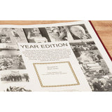 Personalised Mirror Year Edition Newspaper Book (Burgundy Leatherette)
