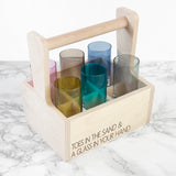 Personalised LSA Coloured Shot Glass Trug