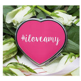 Personalised Hashtag Heart Compact Mirror