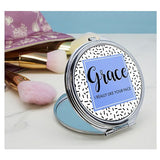 Personalised I Really Like Your Face Round Compact Mirror