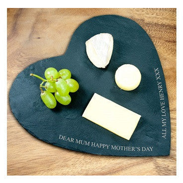 Personalised Heart Cheese Board