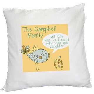 Personalised Let this home be Blessed - Square Cushion